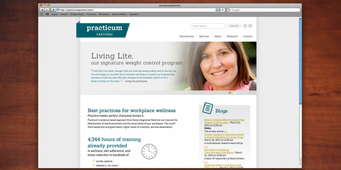 Practicum Partners <h2>Website</h2>