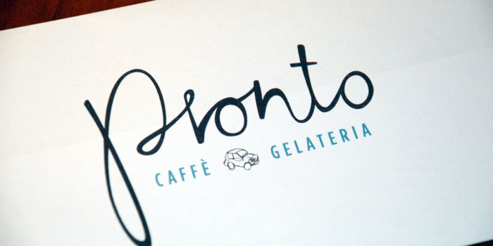 Pronto Caffé / Gelateria <h2>Logo and Marketing Materials</h2>