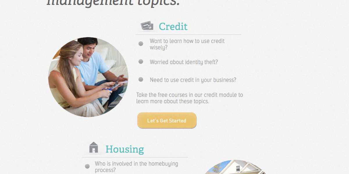 Clearpoint U - UI Design Financial Categories