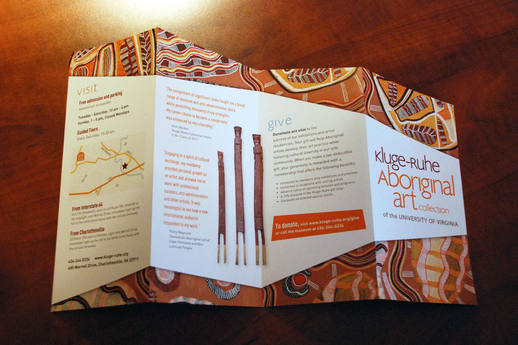 Kluge Ruhe Aboriginal Art Museum Brochure Birch Studio