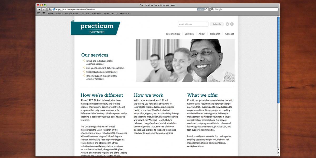 Practicum Partners Website - Birch Studio   Birch Studio